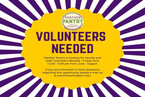 Panther Pantry Volunteers needed